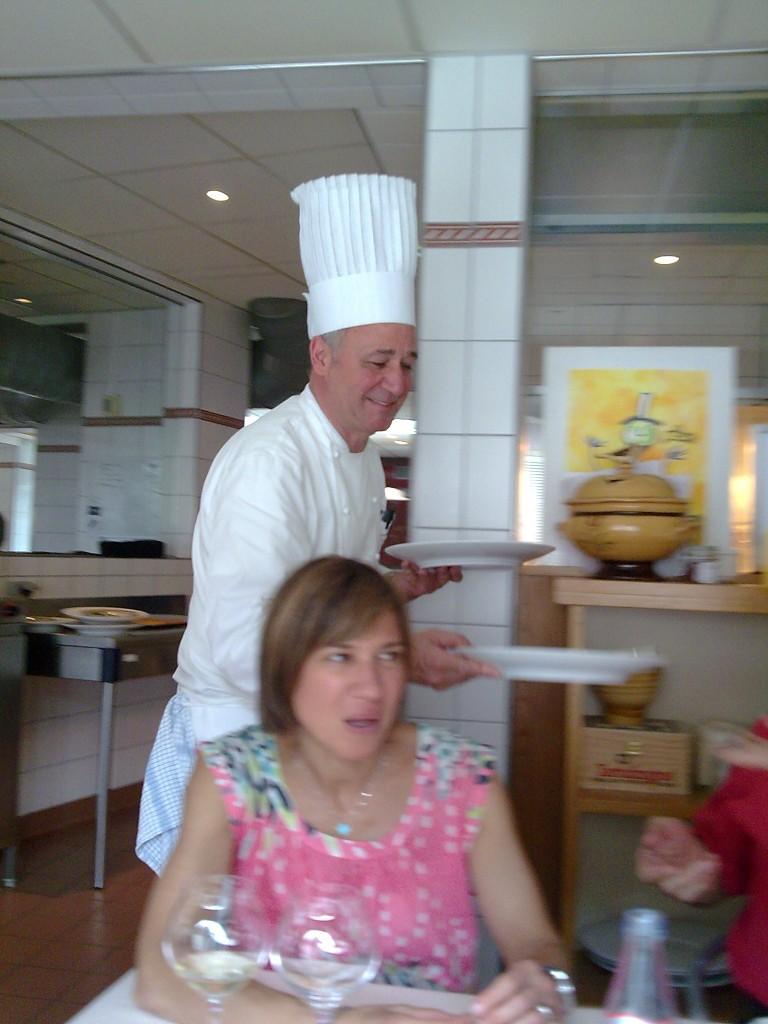 Marc et Isabelle Haeberlin en cuisine © GP