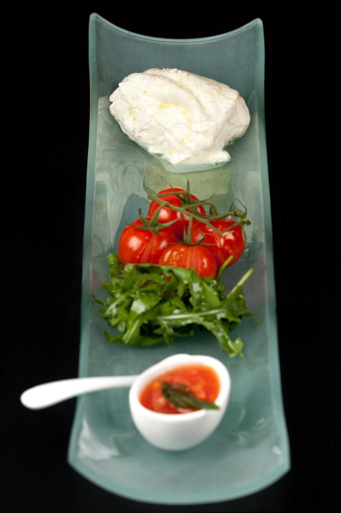 Burrata aux tomates cerises © David Grimbert
