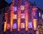 La façade de Christian illuminée © GP