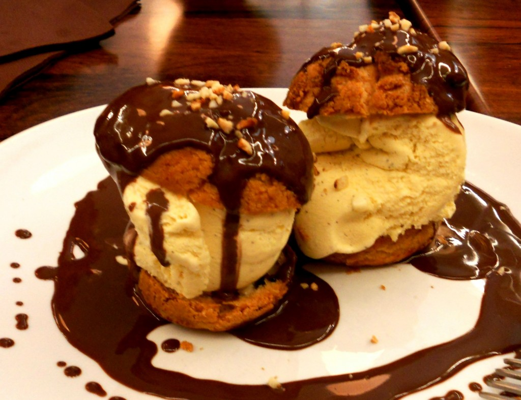profiteroles with maple caramel profiteroles au chocolat the baked ...