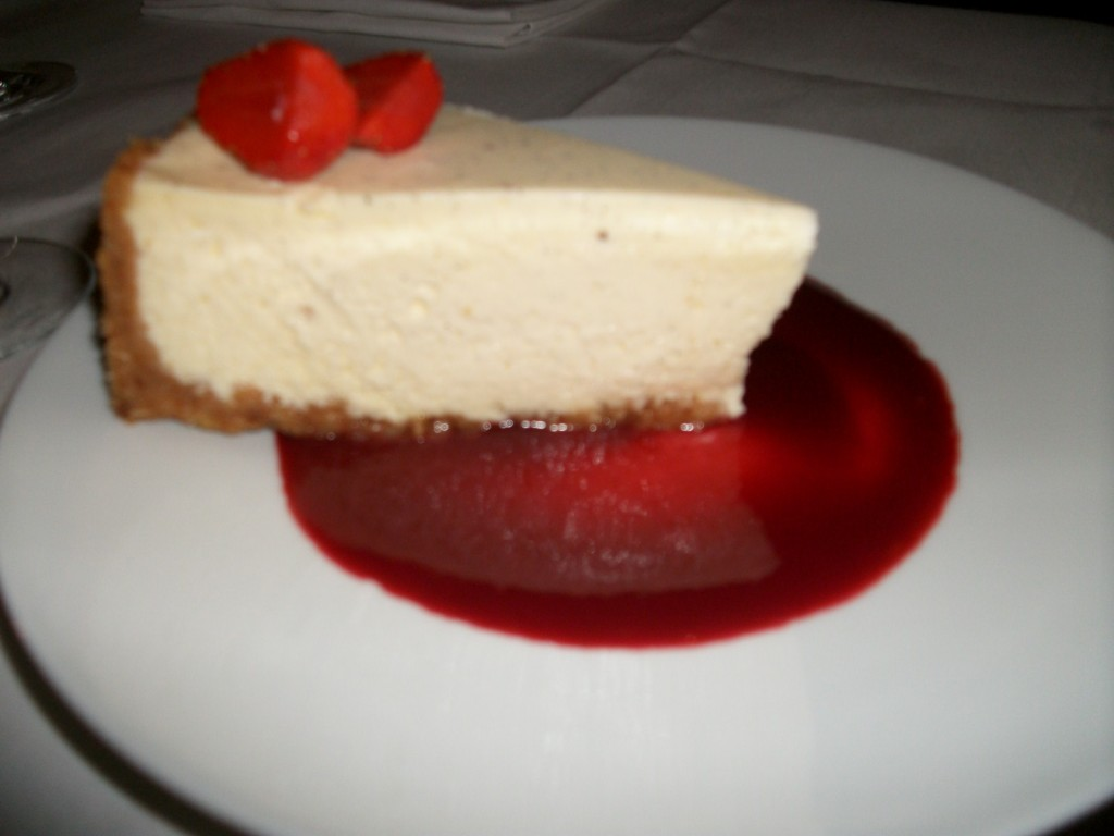 Cheese cake coulis de fruits rouges © GP