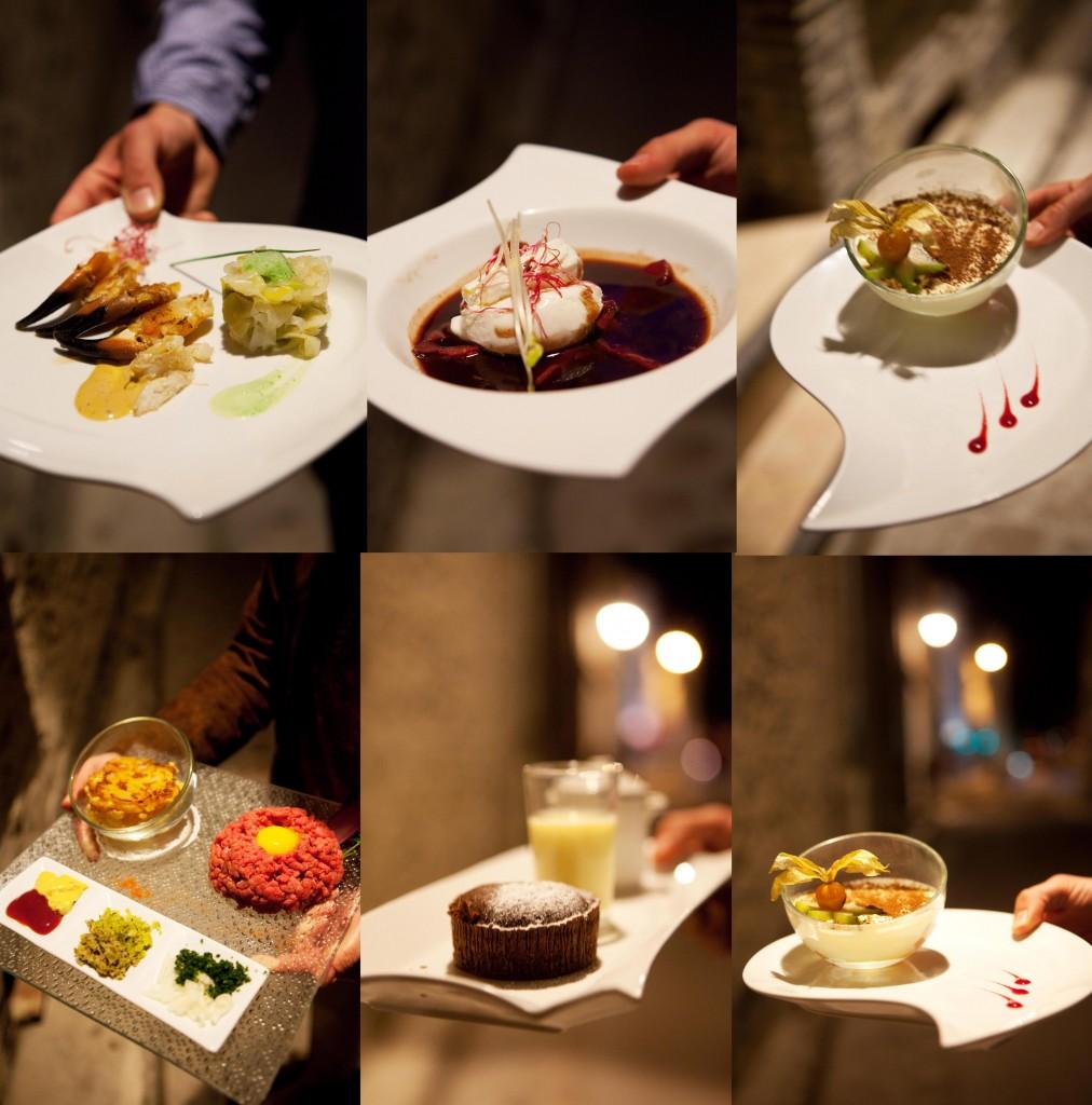 Mosaïque de plats au Damier © Maurice Rougemont