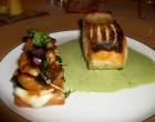 Filet de sandre et tarte flambée aux croûtons d'anguille © GP