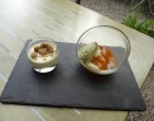 Abricot rôti au romarin et panna cotta ©GP