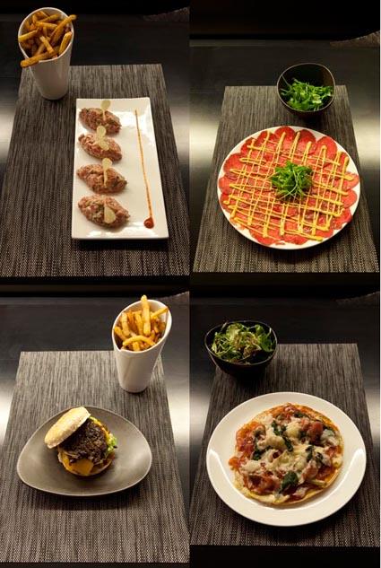 Tartare, carpaccio, burger, pizza © Maurice Rougemont