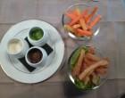 Bâtonnets et tempura de légumes crus ©Didier Chambeau