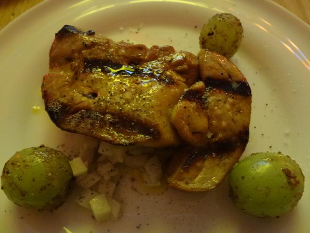 Foie gras chaud, pickles, raisins © GP
