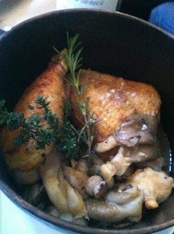 Poulet jaune en cocotte  Didier Chambeau