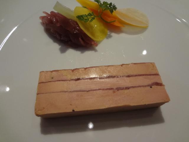 Foie gras et magret fumé en compression © GP