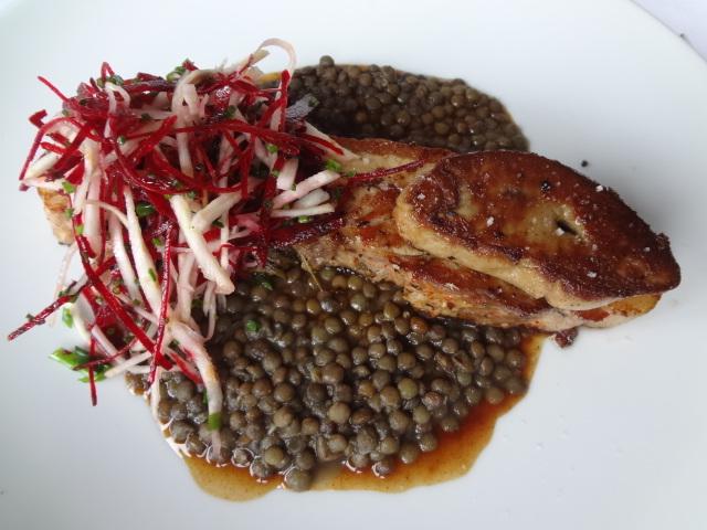 Poitrine de cochon au foie gras et lentilles © GP