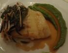 Barbue avec purée de petits pois au wasabi © GP