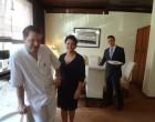 Lutz Janisch avec Cynthia et le maitre d'hôtel ©GP