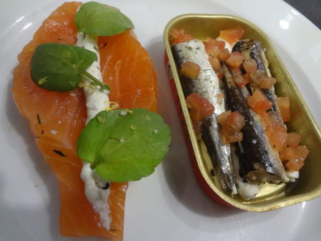 Saumon mariné et sardines © GP