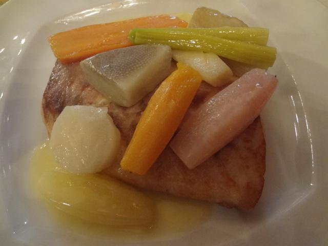 Bar rôti aux légumes d'hiver ©GP