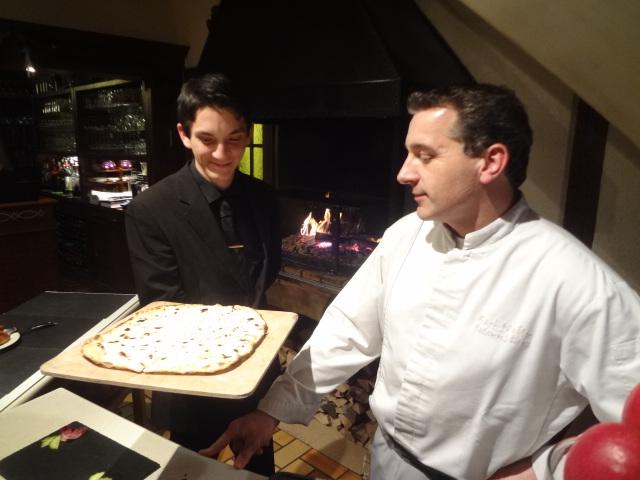 Gilles Walter, le service, la tarte flambée ©GP