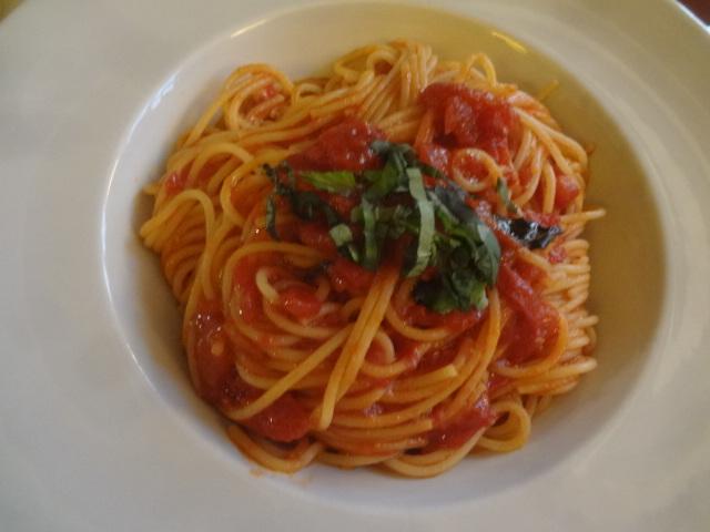 Spaghettini tomate et basilic ©GP