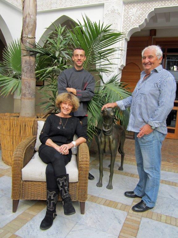 Elisabeth,Gérard Halgrain et le chef ©Alain Angenost