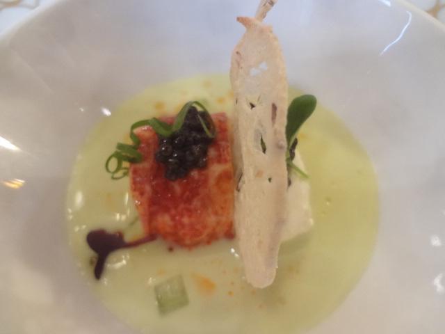 Gaspacho de concombre et homard © GP