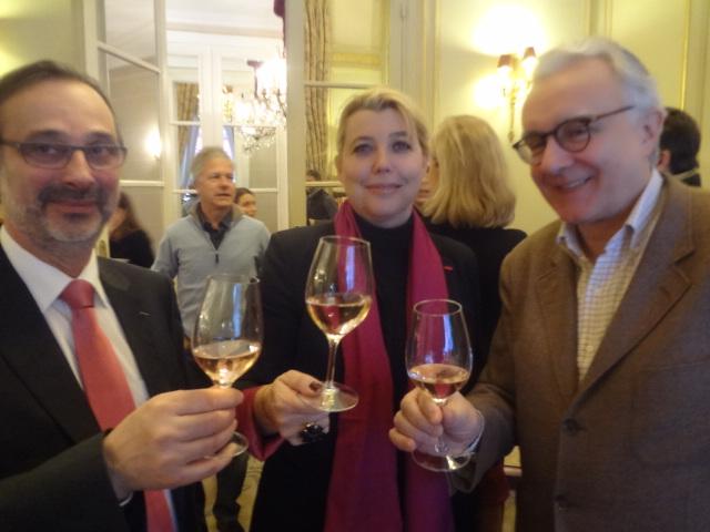 Le chef de cave de Pommery, Nathalie Vranken et Alain Ducasse © GP