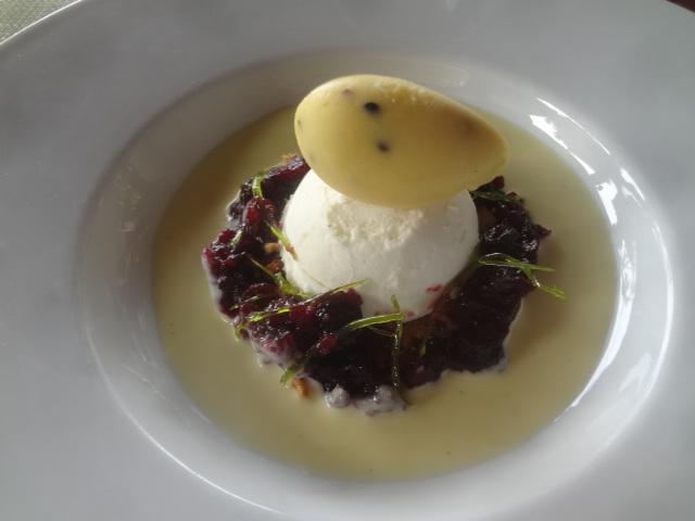 Légèreté de fromage blanc aux fruits rouges © GP