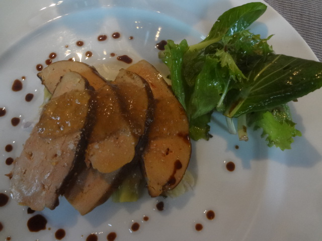 Foie gras et poireaux © GP