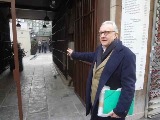 Alain Ducasse devant son atelier ©GP