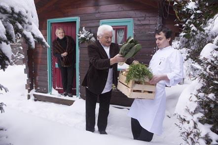 Sylvie et Michel Philippe avec Jérôme Badonnel ©Maurice Rougemont