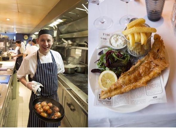 Le chef et le fish & chips ©Maurice Rougemont