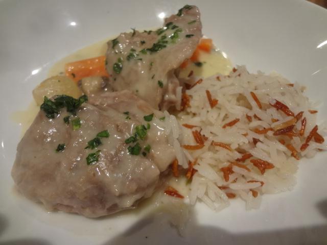 Blanquette de veau et riz grillé © GP