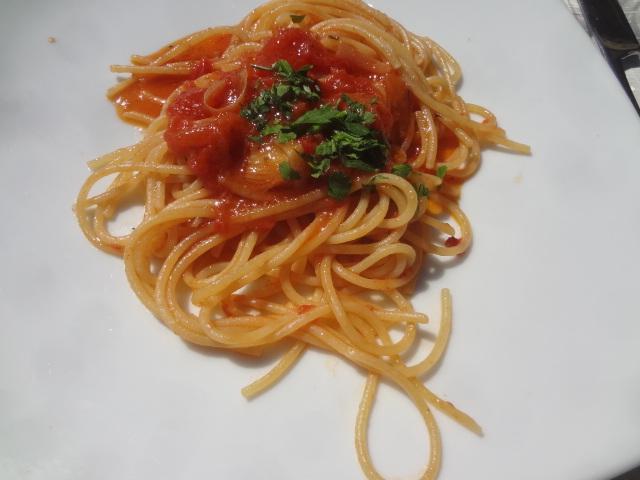 Spaghetti à la tomate © GP