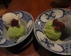 Glace thé vert, sésame blanc et noir © GP