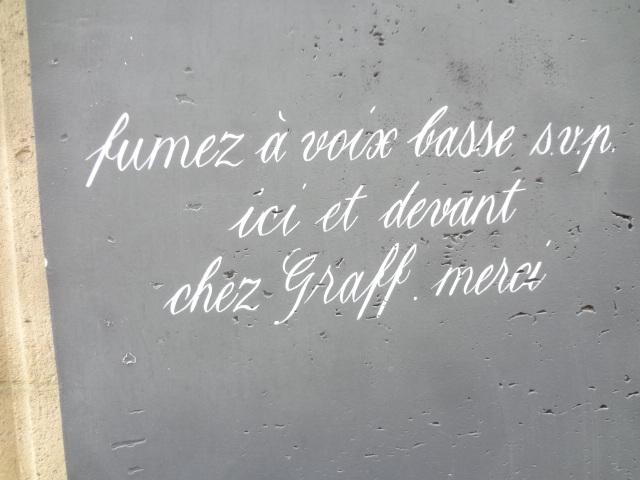 Inscription sur le mur de la Laiterie Sainte-Clotilde ©GP