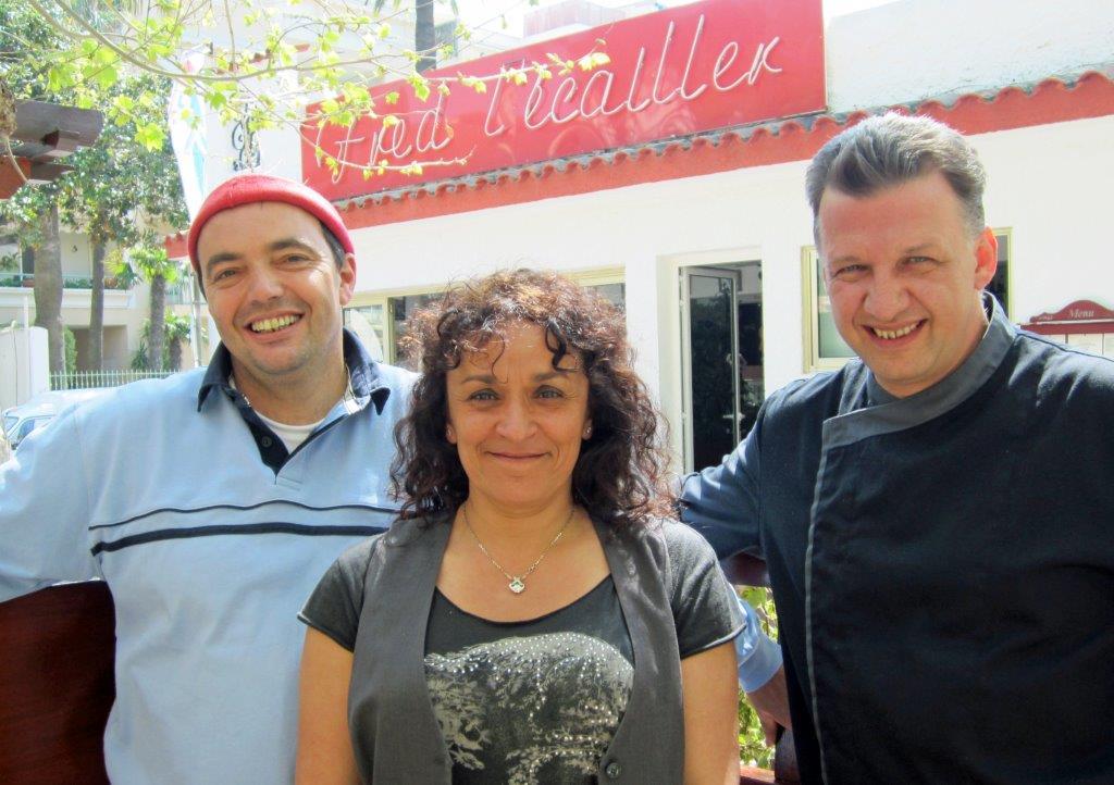 Fred, Nadia et Benoit le chef ©Alain Angenost