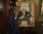 Giuseppe Tasca devant le portrait de son grand pere ©GP