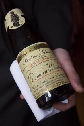 Le riesling du domaine Weinbach © Maurice Rougemont