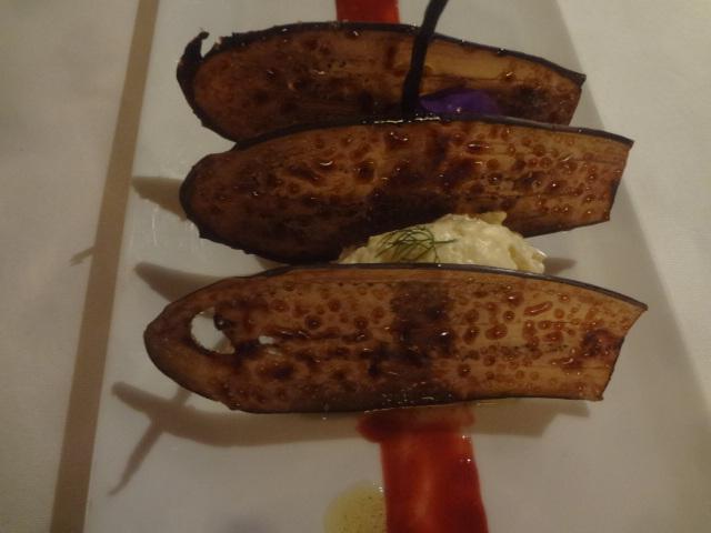 Feuille-feuille d'aubergine ©GP