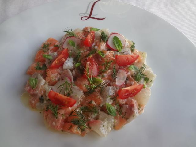 Tartare de saumon et dorade ©GP