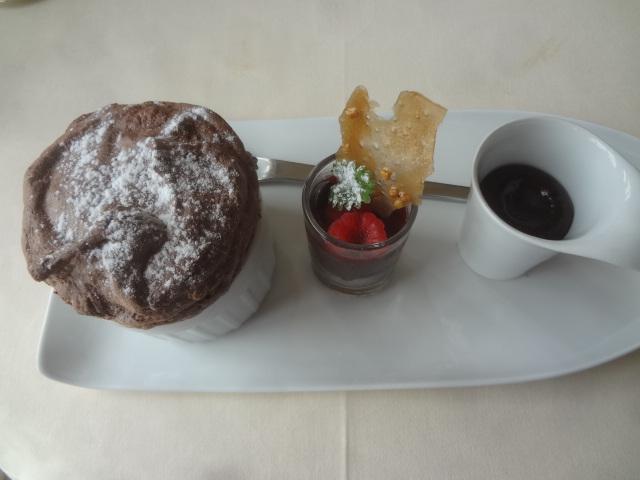 Chocolat, soufflé, mi-cuit, glacé © GP