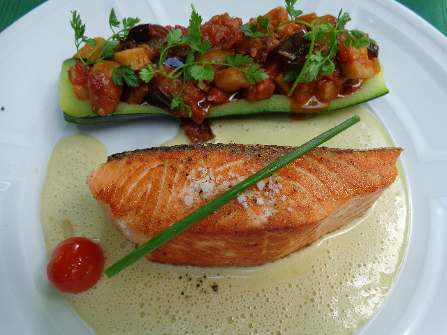 Pavé de saumon et courgette ©GP