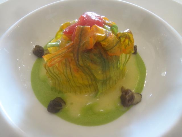 Spaghetti à la fleur de courgette ©GP