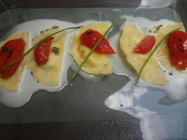 Ravioli à la mozzarella et tomate © GP