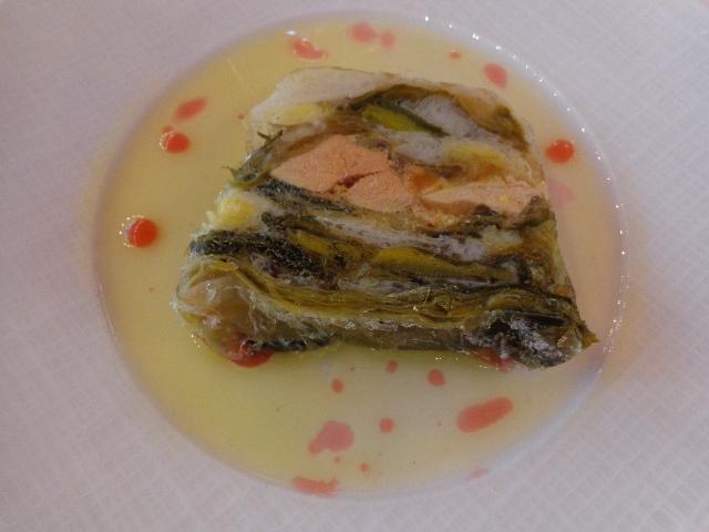 Pressé de poireaux au foie gras ©GP