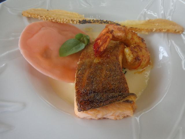 Raviole de homard et truite saumonée © GP