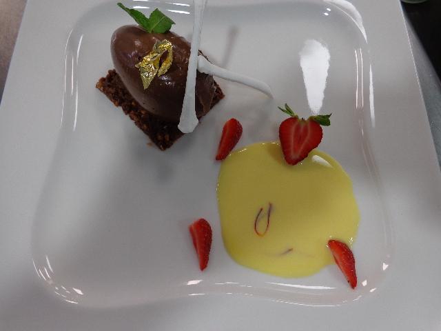 Moelleux au chocolat, anglais au safran © GP