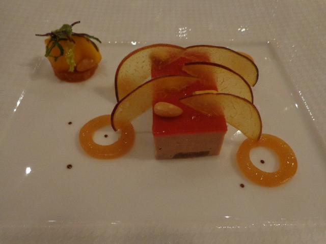 Foie gras et pêche © GP