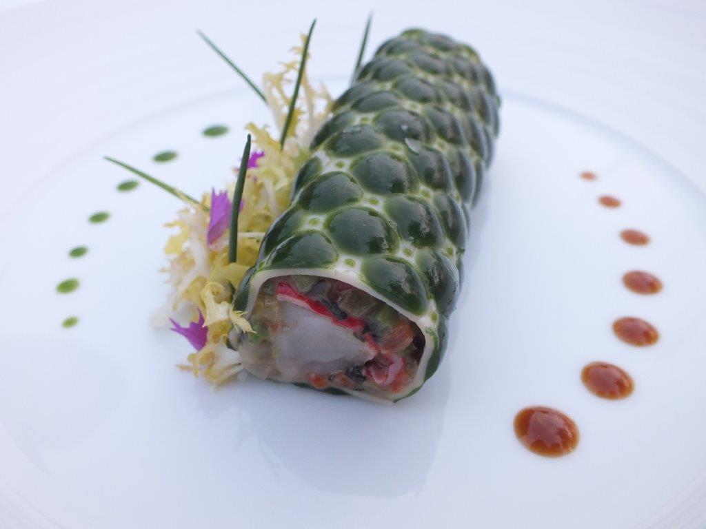 Queue de homard bleu en salade © AA