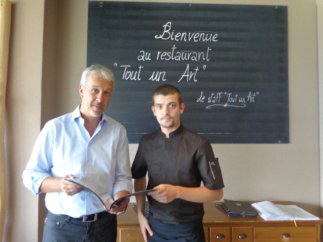 Joseph Bonvin et le chef ©GP