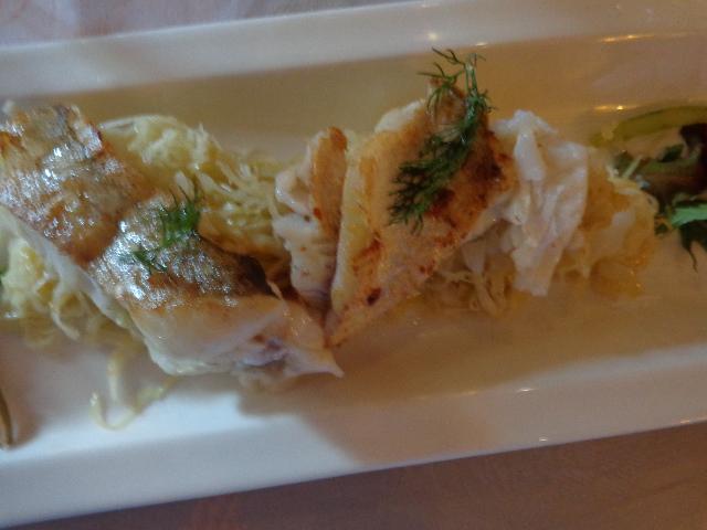 Filets de merlan et salade de choucroute © GP
