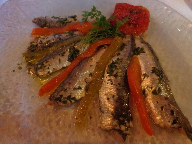 Tapas de sardines et poivrons © GP