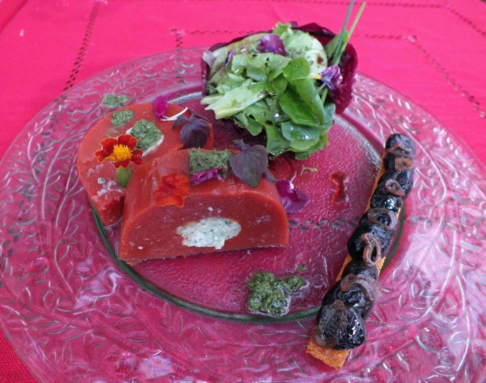 Terrine de tomate a la brousse fraiche © AA